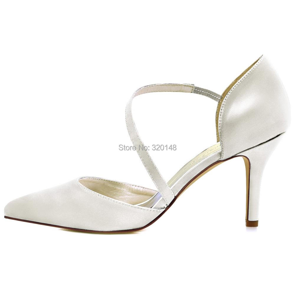 07cf96c46b7a7 HC1711 NW Women's shoes wedding bridal high heel Ivory blush pink pointy  strap satin lady female bridesmaids evening party pumps-in Women's Pumps  from Shoes ...