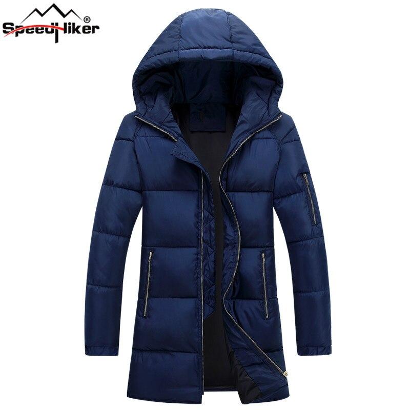Speed Hiker Winter Jacket Men Long Parks Warm Cotton-padded Hooded Outwear jacket coat causal jaqueta masculina HZF-8689 настенно потолочный светильник sonex halo 157 k