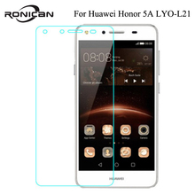 RONICAN For Huawei Honor 5A LYO-L21 Case Russia Version 5.0 inch Tempered Glass Screen