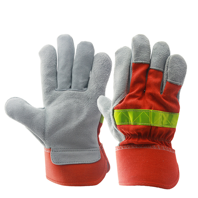Welding gloves Anti-fire Flame-retardant Safety Working Gloves Industrial welding Wear resistant Protective Labor Work gloves insulated gloves electric gloves 5kv anti live live work high pressure live work labor protection protective rubber gloves