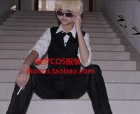 Durarara Cos Shizuo Heiwajima Cosplay Costume Bartender Suit
