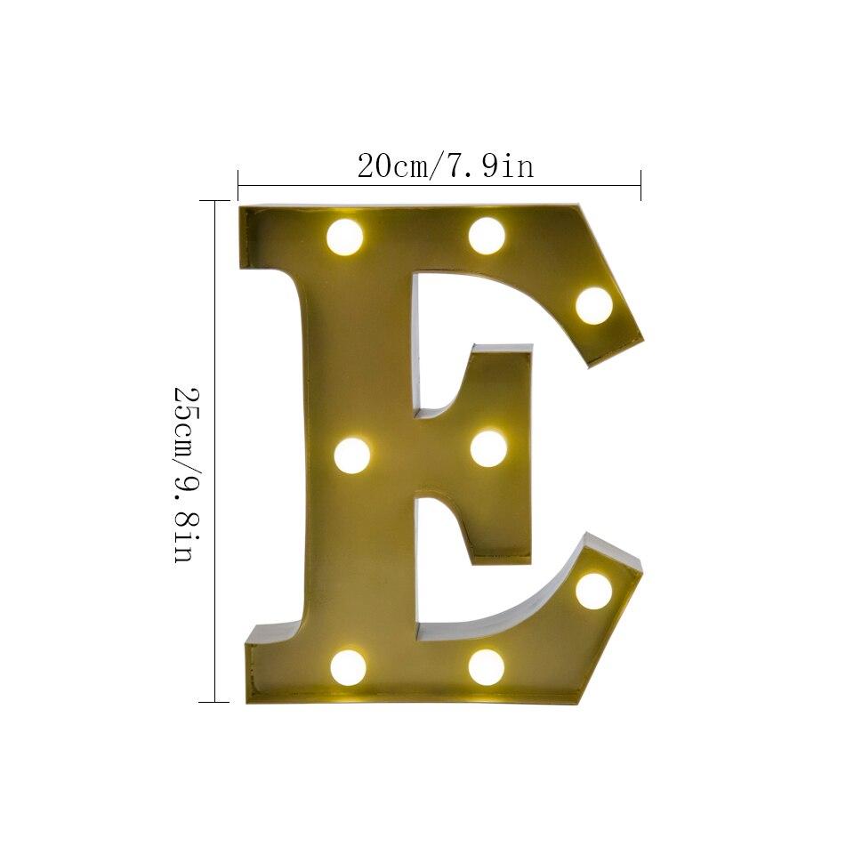 Modern Art Alphabet Led Lights Lighting, Letters \