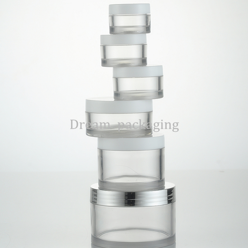 5g/10g/15g/30g/50g/100g Transparent Container Plastic Cream Jar, Empty Plastic Cream Container, Travel Small Cosmetic Container