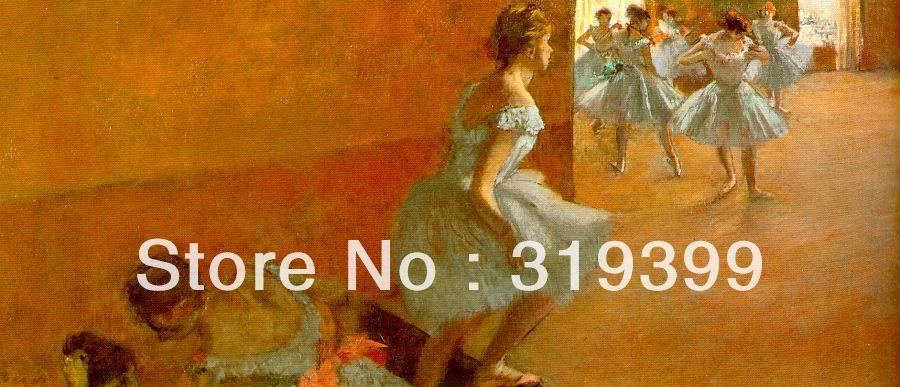 Картина маслом Размножение на льняном холсте, танцоров восхождение Лестницы Эдгара Дега, Бесплатная доставка DHL, ручной работы, одежда высш