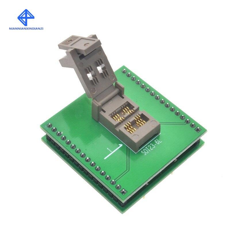 Burn-in Socket NEW SOT23 SOT23-6 SOT23-6L IC Test Socket Programmer Adapter