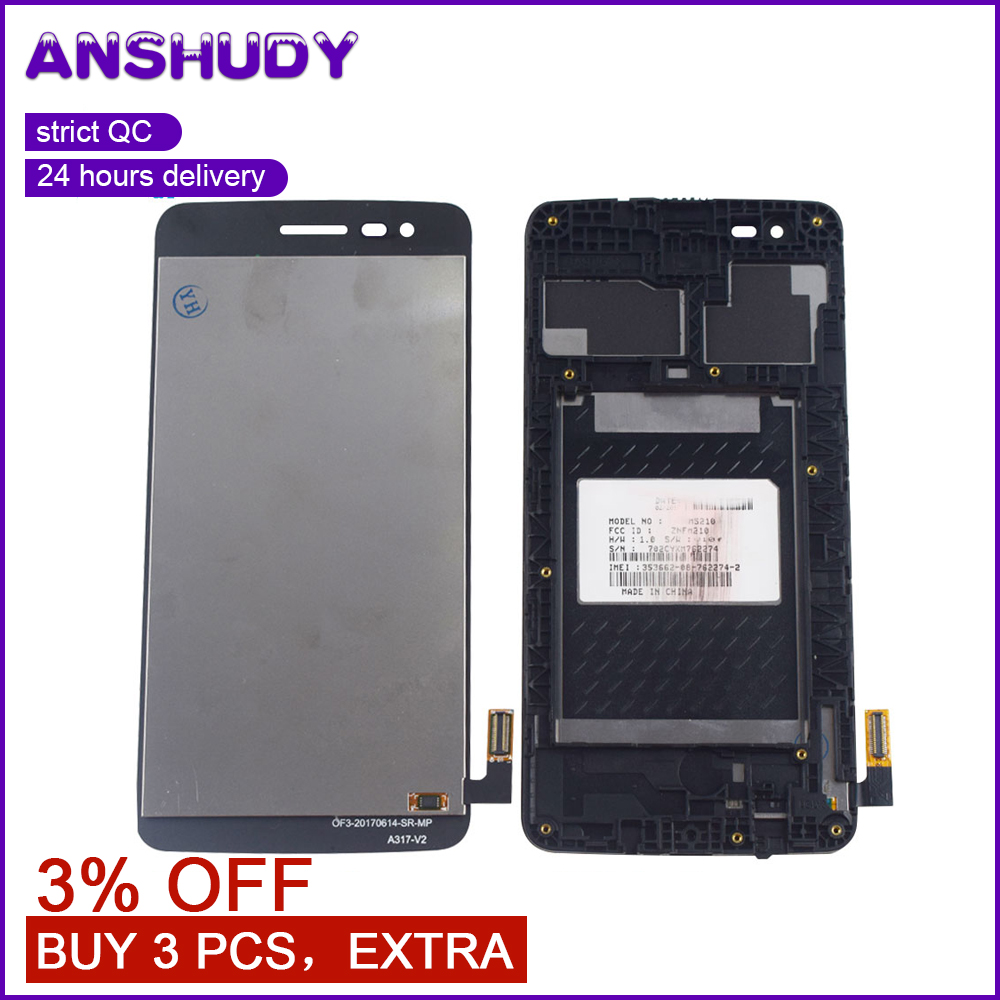 For <font><b>LG</b></font> K8 2017 Aristo M210 MS210 US215 <font><b>X240</b></font> Touch Screen Panel Digitizer Glass + <font><b>LCD</b></font> Display Monitor Module Assembly Frame image