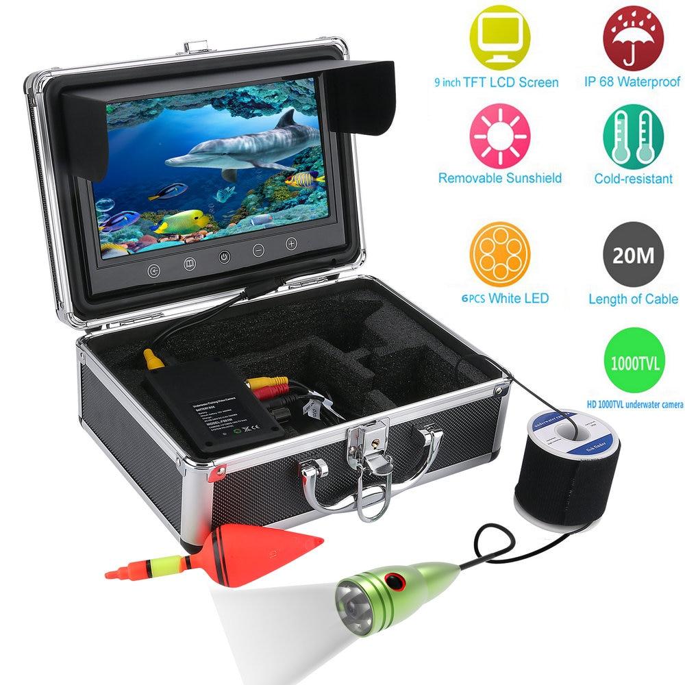 Free Shipping! 9 Inch Color Monitor 20M 30M 50M 1000tvl Underwater Fishing Video Camera Kit 6 PCS LED LightsFree Shipping! 9 Inch Color Monitor 20M 30M 50M 1000tvl Underwater Fishing Video Camera Kit 6 PCS LED Lights
