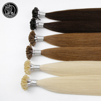 Keratin Capsules U Tip Human Fusion Hair Silky Straight 100% Real Remy Pre Bonded Hair Extension Professional Salon 0.8g/s 16