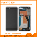 Preto new lcd para htc desire 820 display lcd + touch screen digitador com a montagem do quadro + ferramentas