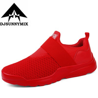DJSUNNYMIX Running Shoes Sneakers Slip On Men Sport Shoes Plus Size 39 46
