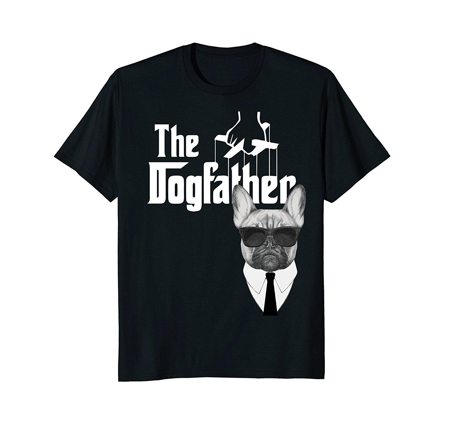 2018 New Summer High Quality Tee Shirt The Dogfather French Bulldog T-Shirt Frenchie Dog Tee Cool T-shirt