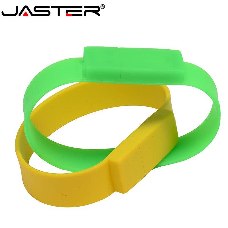 JASTER Promotion Mini Creative Cartoon External Storage  USB 2.0 4GB 8GB 16GB 32GB 64GB Small Hand Wrist Band USB Flash Drive