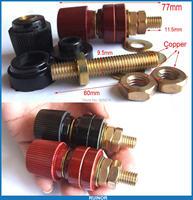 4PCS 300A Amplifier Power High temperature Copper Binding Post Socket Terminals