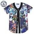 Hip Hop Dos Homens/mulheres Personagens Do Jogo T-shirt Impressão Dos Desenhos Animados 3d adorável Camisa Verão Tops Camisas de Botão
