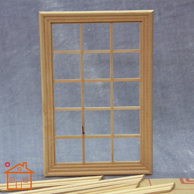 Playscale Window 15-panes miniature dollhouse 1/12 scale Fashion Doll #W003