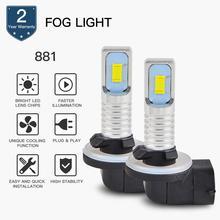 цена на Bevinsee Car LED Foglight Bulbs DRL CSP Chips Super White Lamps 6500K Pure White Daytime Running Lights 881