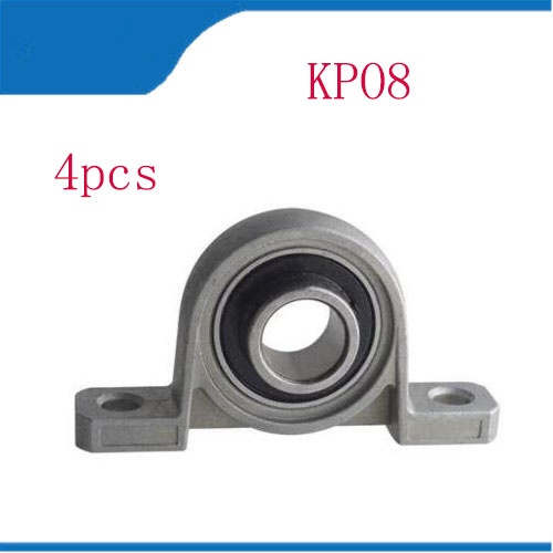 Free shipping 4Pcs Zinc Alloy Diameter 8mm Bolt Ball Bearing Pillow Block Mounted Support KP08 цена 2017