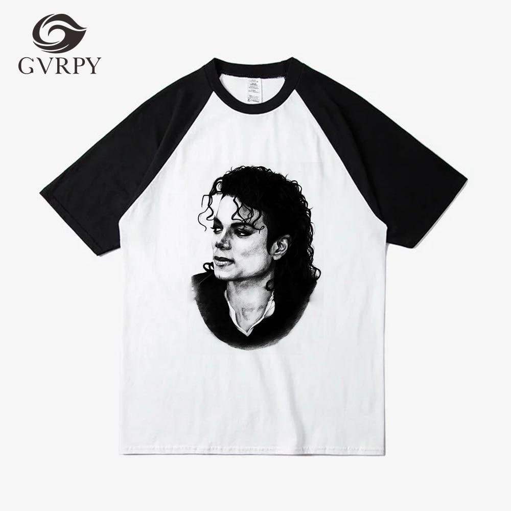 9f638c21a15d8 Michael Jackson impreso 2018 de moda ropa básica de las mujeres de los  hombres T camisa Unisex Casual de manga corta de verano Harajuku Tee Shirt