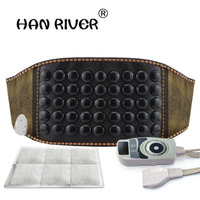 Far Infrared Germanium Stone Lumbar Fields Electric Heating Belt Moxibustion And Herniation Tropical Body Massager