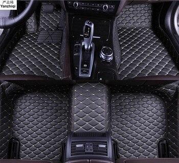 Upgrade leather car floor mats for Hyundai Elantra Avante i35 Sedan 2011 2012-2015 Custom foot Pads automobile carpet car covers