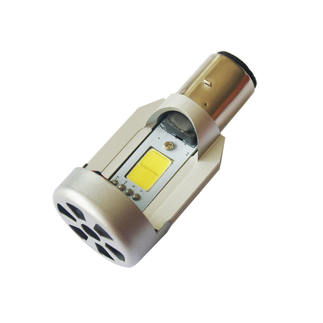 2016 New LED 20W*2 2000LM*2 Hi/Lo Beam DC12V 6500K BA20D Plug Led Motorcycle Headlight Bulbs Moped Scooter Motobike Headlamp