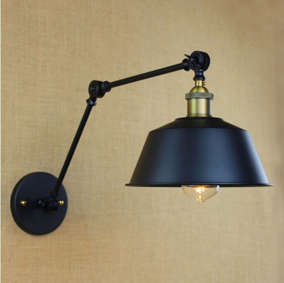 60W America Retro Style Loft Industrial Wall Lamp Vintage Wall Sconce With Long Arm Lampara Pared Stair Light