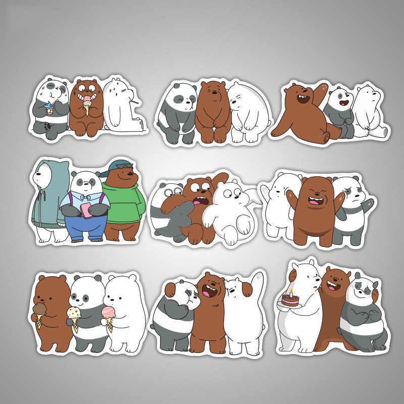 36 Uds pegatinas de oso Panda lindo pegatinas de anime pegatina adhesiva impermeable para decoración DIY coche estilo bicicleta de teléfono para motocicleta Laptop