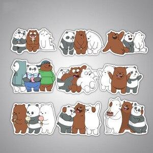 Image 3 - 36 pçs bonito panda urso adesivos anime adesivos adesivo à prova ddiy água para decoração diy estilo do carro da bicicleta motocicleta telefone portátil