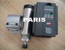 CNC spindle kit ER 20  2.2KW air cooling spindle motor 4 bearing+2.2KW VFD inverter+spindle clamp 80mm