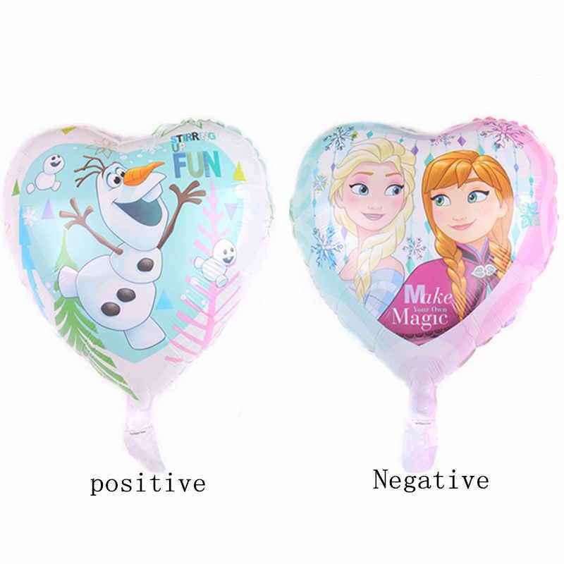 XXPWJ Novo 18-polegada heart-shaped princesa balão de alumínio decoração de casamento festa holiday balão atacado DD-050