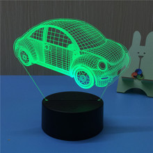 Beetle 3D LED Night Light USB 7 Color Decoration Househould lamp for kids night light as Holidays & Birthdays Gift