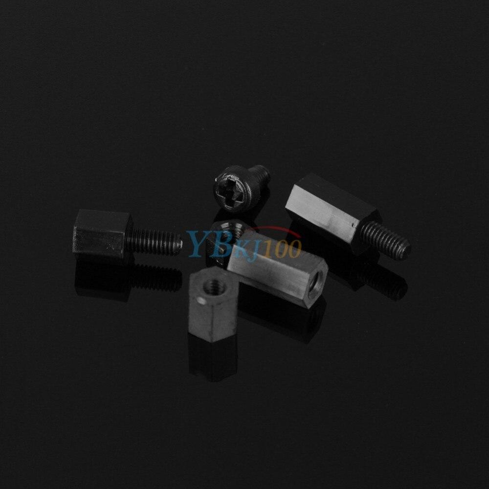 Купить 300 шт./компл. Черный Нейлон Различные Ассорти С Шестигранной Гайкой M3 Распорки противостояние Kit Набор с Коробкой Оптовая дешево