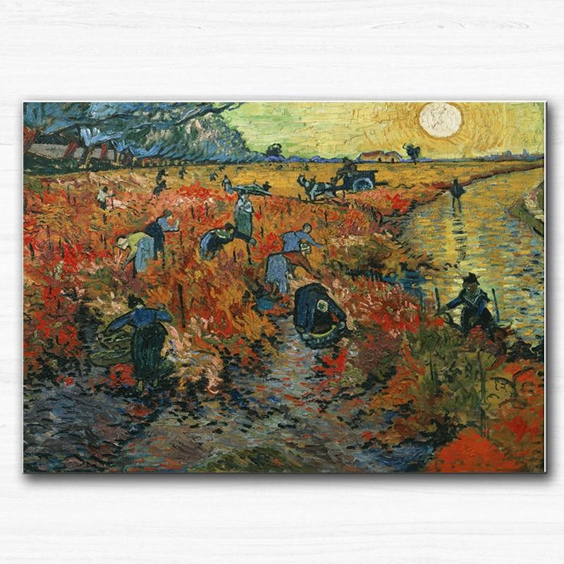 Pinturas de Van Gogh Impressões em Tela Impressionista Paisagem Wall - Decoração de casa - Foto 5