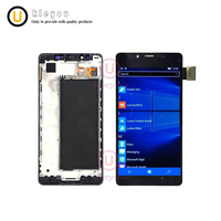 Tested AAA For Microsoft Nokia Lumia 950 LCD Display Touch Screen Digitizer Assembly With Frame RM