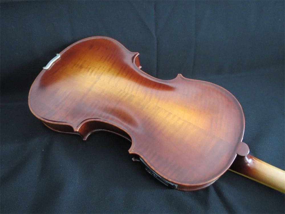 Handmade New Solid Maple Wood Brown Acoustic Violin /Violino 4/4 Electric Violin Case Bow Included one 4 string 4 4 violin electric violin acoustic violin maple wood spruce wood big jack green color