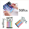 50pcs/lot Touch Screen Retractable Stylus Pens for iPhone 6/6s plus 5s iPad 3/2 iPod for Kindle Universal Smart Phone Tablet PC