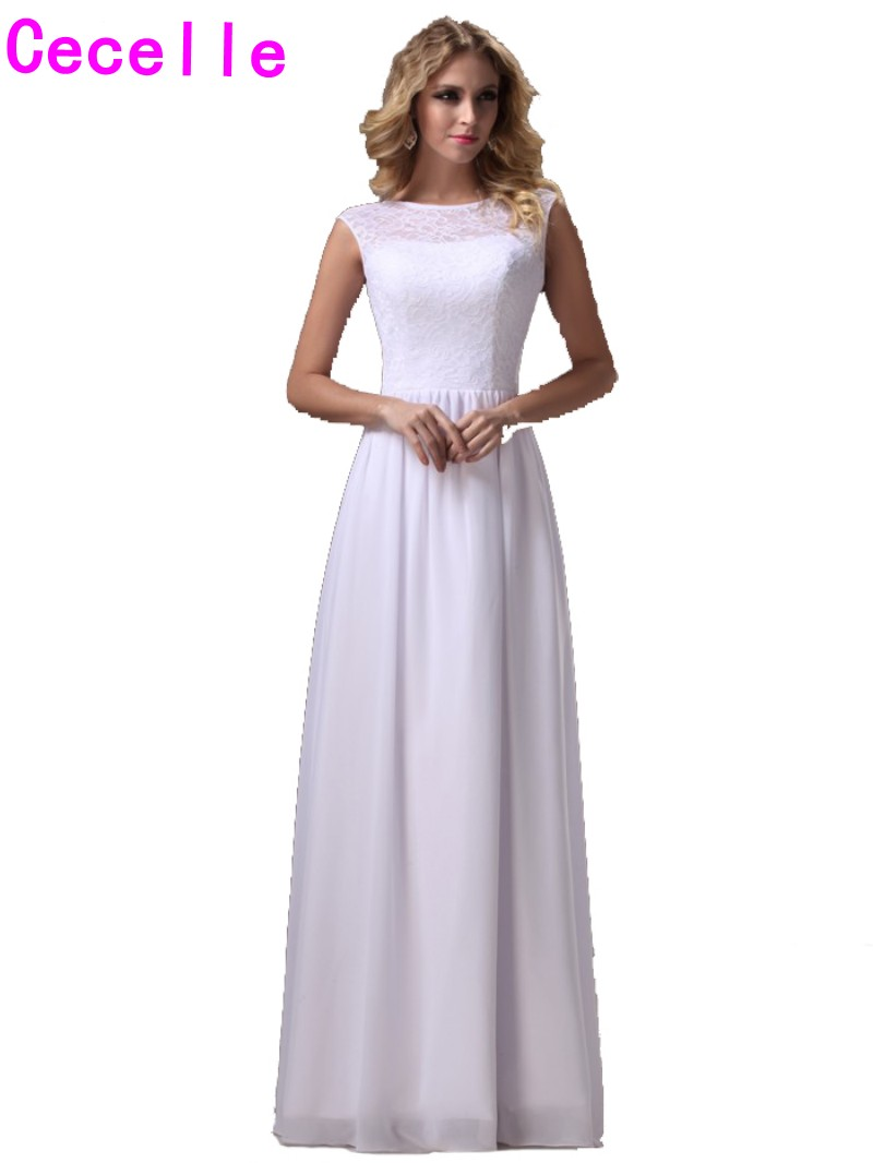 Compare prices on bridesmaid dress white free online shoppingbuy white long bridesmaids dresses floor length lace top chiffon skirt formal boho country wedding bridesmaid gowns ombrellifo Image collections