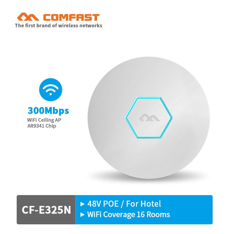 все цены на 300Mbps wireless Ceiling AP wifi router openwrt wifi access point in wall AP with 2*3dBi wifi antenna and 48V POE power adapter онлайн