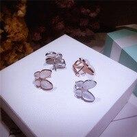 Fashion design butterfly Ear Clip Cuffs Earrings Jewelry For Women,famous brand jewelry charming butterfly earrings 925 silver