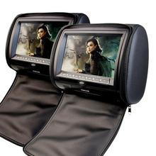 2×9 Pulgadas de pantalla Digital de Pantalla Reposacabezas del coche almohada CD Reproductor de DVD Monitor de Soporte USB/SD/IR/Transmisor de FM con el disco Del Juego de Vídeo