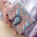 Mulheres de Couro da moda Carteiras Bonito Magpie Curto Ferrolho Carteira Titular do Cartão Bolsa Da Moeda Quente