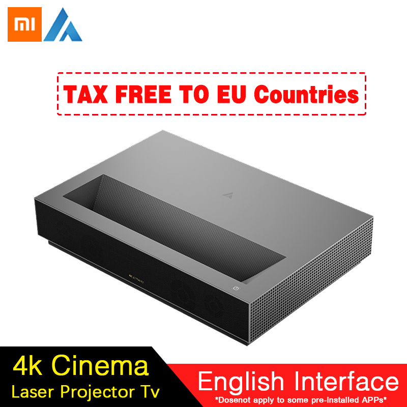 2019 Xiaomi Fengmi 4k Laser Projector Cinema 150 Inch ALPD Light Source 4K 3D 2GB 64GB bluetooth 4.0 MIUI TV Projector Speaker