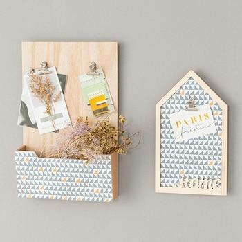 Moderne Innentüren | Nordic Moderne Innenwand Dekoration Kreative Nachricht Bord Ornamente Holz Haus Lagerung Rack-Shop Tür Wand Hängen Geschenke
