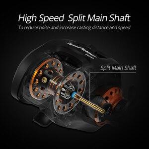 Image 5 - KastKing carrete de Baitcasting Speed Demon Pro, carrete de pesca de fibra de carbono de alta velocidad, 9,3: 1, 12 + 1BBs, freno magnético