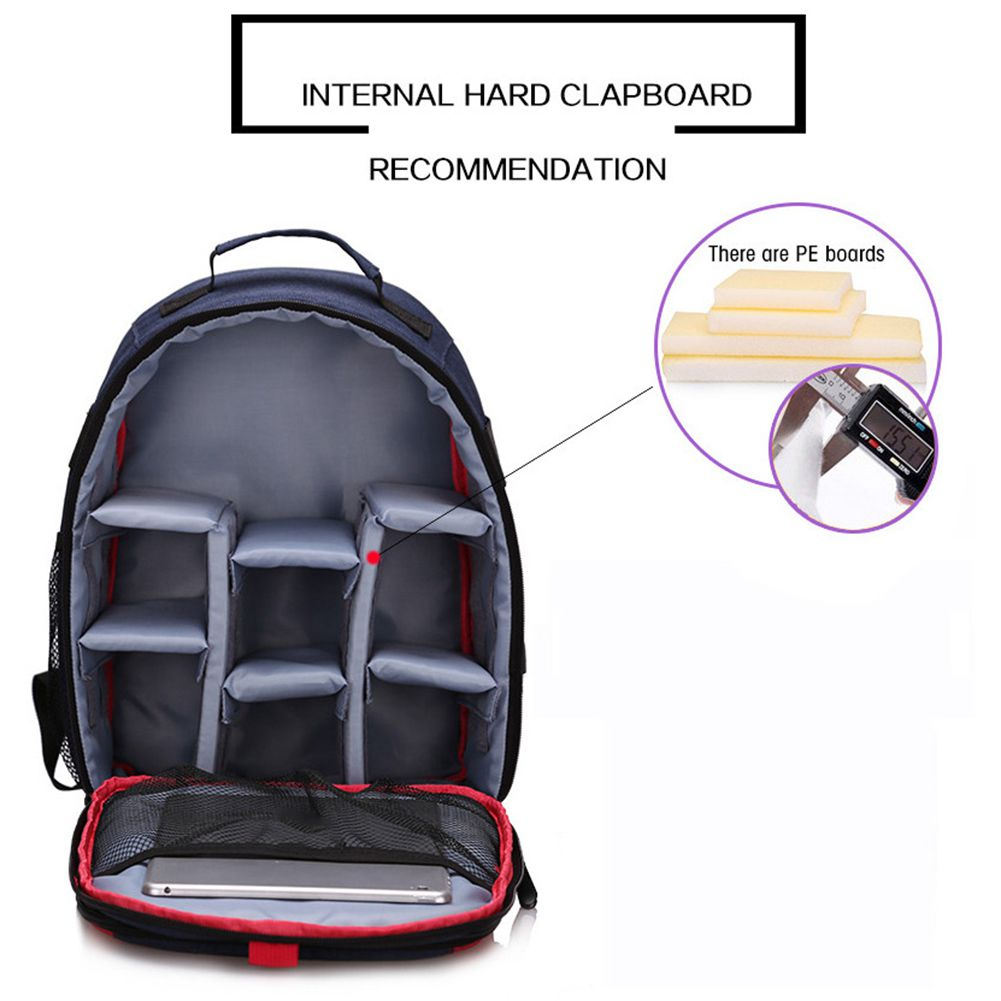 HEBA Hot Sale Photo Camera Video DSLR Waterproof Shoulders Soft Padded Small Backpack Tripod Travel Laptop Case Bag for Canon