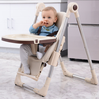 Baby High-feeding Chair Child Dining Chair Child Foldable Child Chair Eating Dining Table Chair Multi-function Seat