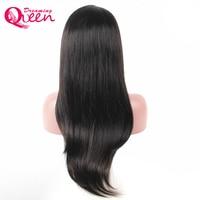 Cheveux raides Avant de Lacet de Cheveux Humains Perruque pour Femme Noire Perruque Brésilienne Délié normal Avec Des Cheveux de Bébé Rêver Reine Cheveux