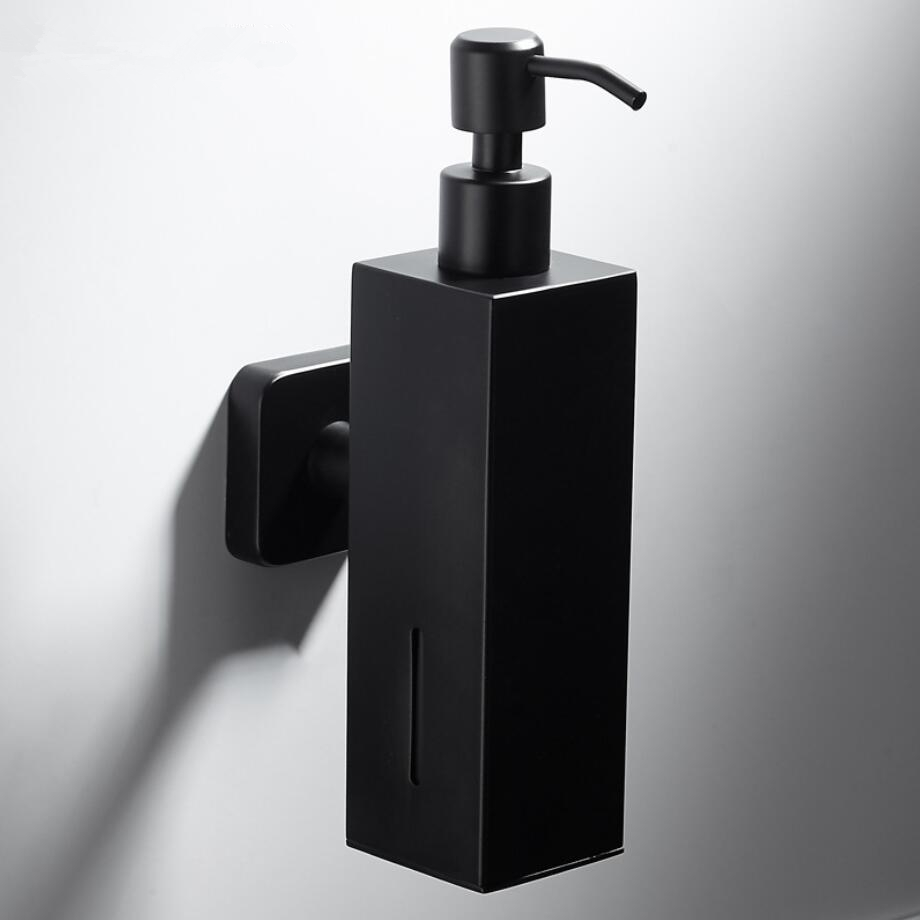 Us 33 85 304 Stainless Steel Black Liquid Soap Dispenser Kitchen Sink Soap Container Bathroom Shampoo Box Wall Mounted Detergent Bottle In Liquid