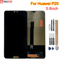 For Huawei P20 LCD Display+Touch Screen 100% New Digitizer Replacement Assembly Glass Panel For Huawei P20 P 20 5.8inch +Tools