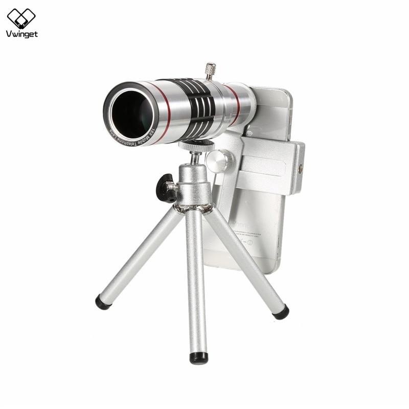 Universal Clip On 18X Telephoto Lens Mobile Phone Optical Zoom Telescope Smartphone IP SAM Note 2 3 4 5 galaxy S4 S5 S6 S7 edge